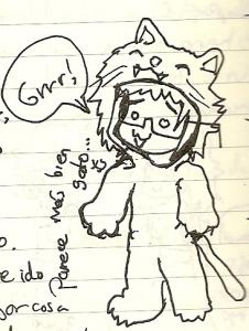 León-gato protector de la niña pocholate =3